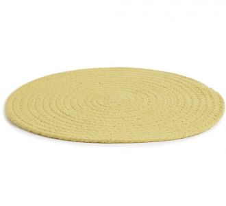 Cotton Composed Proficient Braided Placemat In Colours Of Yellow