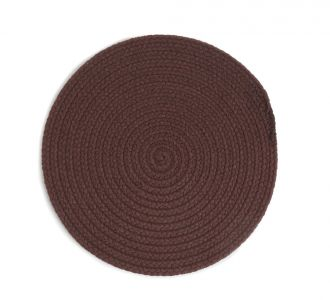 Brown Coloured Bountiful Cotton Braided Placemat Reflecting Quirkiness