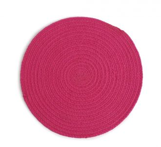 Cotton Braided Perky Placemat In Shades Of Fuchsia Portraying Trendiness