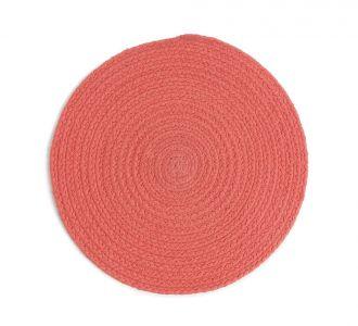 Elegant Cotton Constituted Braided Placemat In Colours Of Orange