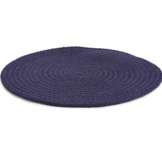 Blue Coloured Beeming Cotton Braided Placemat Reflecting Beauty And Coziness