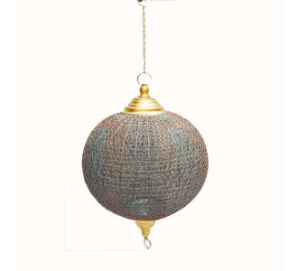 Amazing Royal Gold Hanging Metal Ball Lamp Home Decor