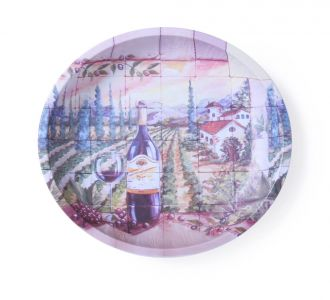 Designer Vino Round Serving Platter For Parties Outings Dining Decor