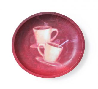 Cool Coffee Round Serving Platter For Serving Your Favourite Food Kitchen And Home Decor