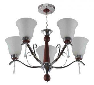 Amazing Lighting Contemporary Glass Metal Wood Chandelier