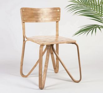 Beautiful Butterfly Natural Color Chair For Home And Garden Decorative Item