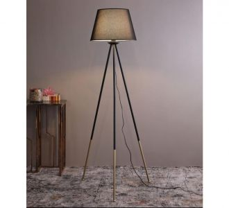 A Glossy Slim Long Design Antique Brass Metallic Light Lamp For Indoor And Outdoor Home Decor
