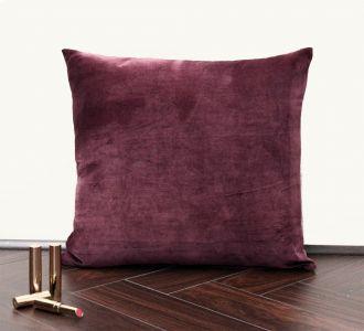 Plum Velvet Cushion Cover Velvet Solid Pillowcase Velvet Throw Pillow Decorative Cushion Pillow Cover