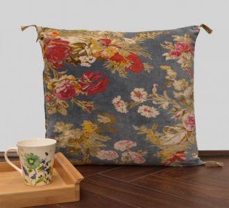 Floating Garden Velvet Cushion Cover Velvet Printed Pillowcase Velvet Throw Pillow Decorative Cushion Pillow Cover