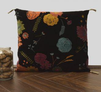 Black Velvet Cushion Cover Velvet Printed Pillowcase Velvet Throw Pillow Decorative Cushion Pillow Cover