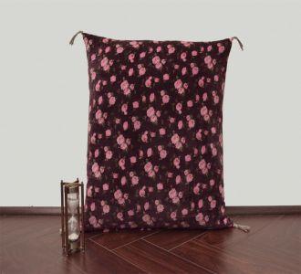 Vintage Roses Velvet Cushion Cover Velvet Printed Pillowcase Velvet Throw Pillow Decorative Cushion Pillow Cover