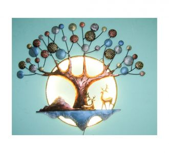 Scenic Beauty Wall Decor With Ring Led Lights