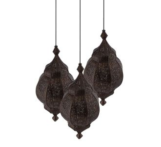 Lights Round Cluster Chandelier Ceiling Antique Copper Classic Moroccan Orb Hanging Pendant Light