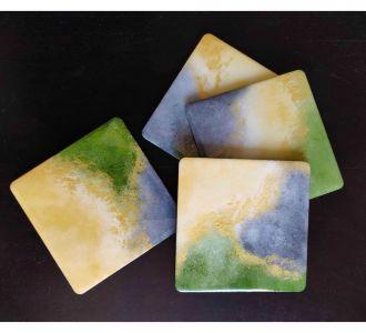 Handheld Abstract Eyecatching Coasters