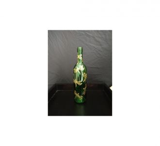 Hand Painted Light Bottle Depicting Dragonflies