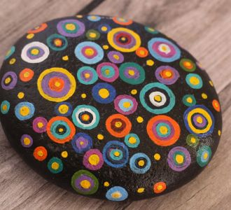 Colorful Circles Depicting Hand Painted Stunning Pebbles