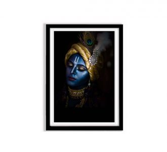 Extraordinary Lord Kishna Face Photo Frame Of Size 12 X 18 Made Up Of Mdf Wood In Multi Colours Sale