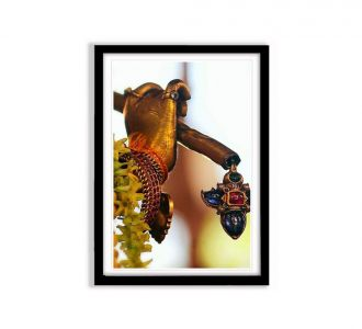 Beautiful Lord Krishna'S Hand With Flute Photo Frame In Multi Colours Made Of Mdf Wood Shopping Sale