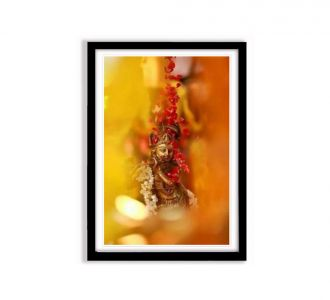 Lord Krishna Idol Photo Frame Made Up Of Mdf Wood In Multi Colours As Home Decor Product Online Sale