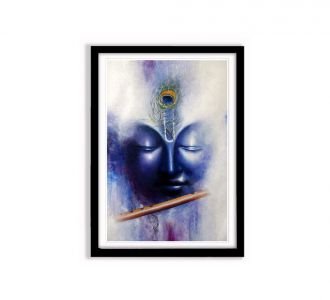 Aesthetic Multi Coloured Lord Krishna Photo Frames Of Size 12 X 18 Inches Made Of Mdf Wood In Online