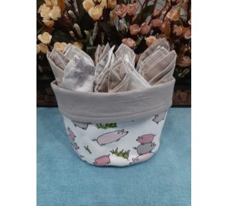 Superb Serviette Basket Made Of 12 Serviettes Of Wood And Washable Cotton Composed