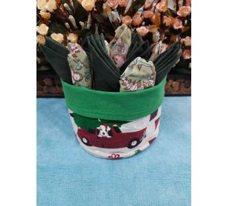 Stunning Napkin Basket In 12 Napkin Combination Featuring Wood And Washable Cotton