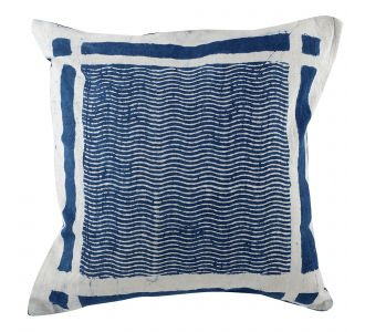 Abstract Boutique Indigo Blue Hand Block Print Multipurpose Decorative Cushion Covers With Cotton Fabric Home Decor