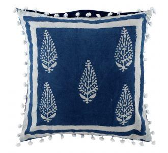 Art Boutique Indigo Blue Hand Block Print Multipurpose Decorative Cushion Covers With Cotton Fabric Home Decor