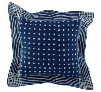 Artistic Boutique Indigo Blue Hand Block Print Multipurpose Decorative Cushion Covers With Cotton Fabric Home Decor