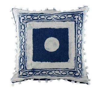 Brilliant Boutique Indigo Blue Hand Block Print Multipurpose Decorative Cushion Covers With Cotton Fabric Home Decor