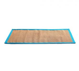 Eco Friendly Jute Anti Skid Yoga Mat With Grey Cotton Border Buy Home Decor Product Online