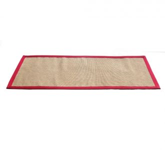 Environment Friendly Jute Anti Skid Yoga Mat With Blue Cotton Border Buy Home Decor Product Online