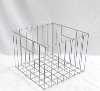Baskets In Shades Of Silver Made Of Metal Depicting Decency And Organisation