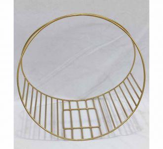 Golden Coloured Graceful Baskets Made Of Metal Showing Decency