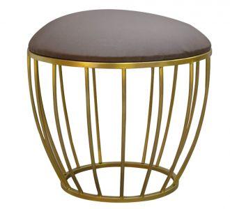 Cage Ottoman Dark Brown Seating Furniture Home Decor