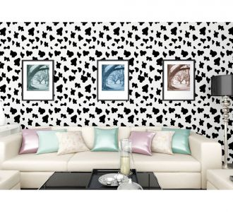 Combnation Of Black Butterflies On White Self Adhesive Classics Wallpaper