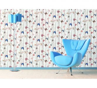 Classic 3D Effect Style Beautiful Multicolor Butterflies Self Adhesive Classics Wallpaper