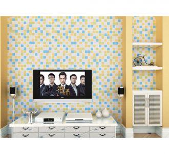 Mosaic Multicolor Squres Self Adhesive Classics Wallpaper Wall Art Decor Item
