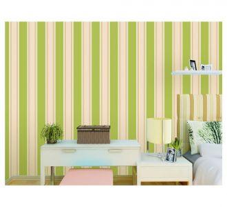 Beatiful Mixure Of Green And Golden Stripes Self Adhesive Self Adhesive Classics Wallpaper