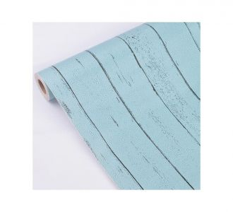 Combination Of Blue And Small Black Highlighted Stripes Self Adhesive Classics Wallpaper