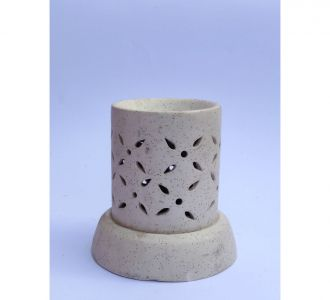 White Ceramic Cylindrical Shape Aroma Diffuser Captivating Handicrafted Buy Home Decor Product