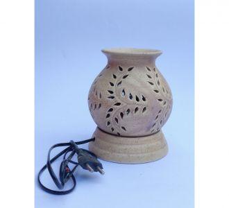 Pot Shape Aroma Diffuser Leaf Design Biege Coloured Home Decor Item Online Limited Edition