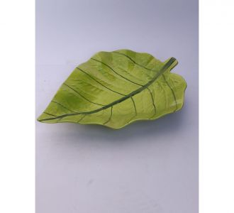 Appealing Big Light Green Leaf Platter For Serving And Presentation Buy Home Decor Exclusively Online