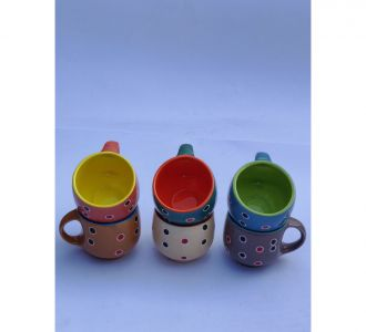 Beautiful Multicolor Ceramic Tea Cups Home And Office Decor