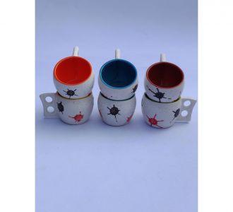Wonderful Multi Ceramic Tea Cups Kitchen Table Decor