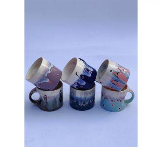 Stunning Multi Ceramic Tea Cups Home Table Decor