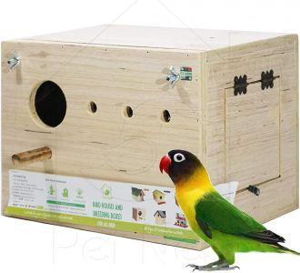 Breeding Box Bird Nest With Perch For Lovebird Standard