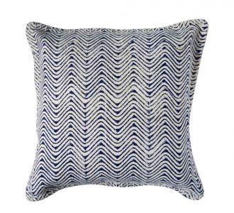 Elegant Blue Coloured Printed Jaipuri Cushion Cover Made Of Cotton