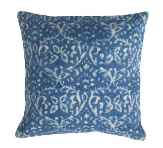 Artisticaly Designed Indigo Coloured Cotton Cushion Covers With Zip To Protect The Filling