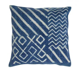 Afectionate Jaipur Block Decorated Cotton Cushion Covers With Zip In Colour Of Indigo